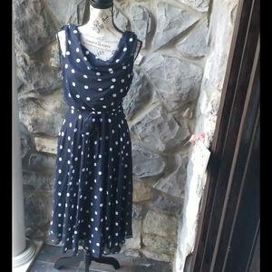 Dress Barn Polka Dot Belted Dress